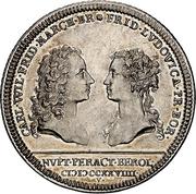 ½ Thaler - Karl Wilhelm Friedrich (Marriage with Friederike Luise von Preußen) – avers