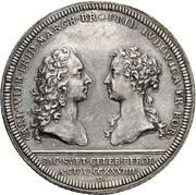 1 Thaler - Karl Wilhelm Friedrich Marriage with Friederike Luise von Preußen – avers