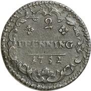 2 Pfennig - Karl Wilhelm Friedrich – revers