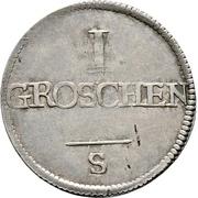 1 Groschen - Christian Friedrich Karl Alexander – revers