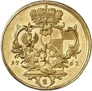 1 Ducat - Christian Friedrich Karl Alexander – revers
