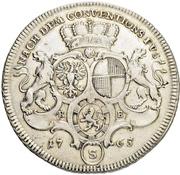 ½ Thaler - Christian Friedrich Karl Alexander (1/2 Konventionstaler) – revers