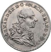 ½ Thaler - Christian Friedrich Karl Alexander (Brandenburg-Ansbach; Bruckberger Porzellanfabrik) – avers