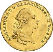 1 Ducat - Christian Friedrich Karl Alexander (Acquisition of Bayreuth) – avers