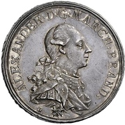1 Thaler - Christian Friedrich Karl Alexander (Prämientaler) – avers