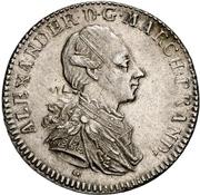 1 Thaler - Christian Friedrich Karl Alexander (Konventionstaler) – avers
