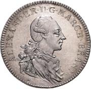 1 Thaler - Christian Friedrich Karl Alexander (Konventionstaler; Order of the red eagle) – avers