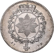 1 Thaler - Christian Friedrich Karl Alexander (Konventionstaler; Order of the red eagle) – revers