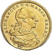 1 Ducat - Christian Friedrich Karl Alexander (Order of the red eagle) – avers