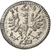 1 Pfennig - Christian Friedrich Karl Alexander – revers