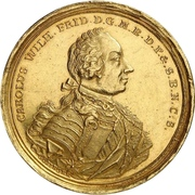 1 Thaler - Karl Wilhelm Friedrich (Gold pattern strike; Falkentaler) – avers