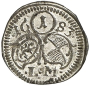 1 Pfennig - Johann Friedrich – avers