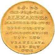 1 ducat Christian Friedrich Karl Alexander – revers