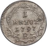 1 Kreuzer - Friedrich Wilhelm II – revers