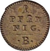1 pfennig Friedrich Wilhelm III -  revers
