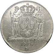1 Gulden - Friedrich Wilhelm II – revers
