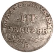 3 Kreuzer - Friedrich Wilhelm III – revers