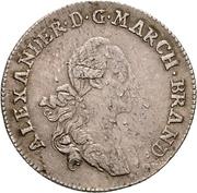 20 Kreuzer - Christian Friedrich Karl Alexander – avers