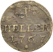 1 Heller - Friedrich Christian – revers