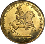 1 Ducat - Friedrich Christian – avers