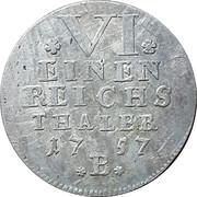 ⅙ thaler Friedrich – revers