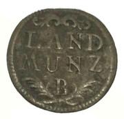 6 pfennig Friedrich Christian (landmünze) – revers