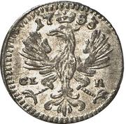 1 pfennig Friedrich – avers