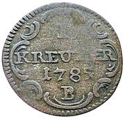 1 Kreuzer - Christian Friedrich Karl Alexander – revers