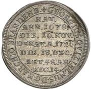 1/12 thaler Georges Guillaume de Brandebourg-Bayreuth (Mort) – revers