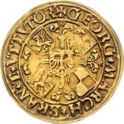 1 Goldgulden - Georg the Pious – avers