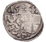 1 Pfennig - Georg the Pious – avers