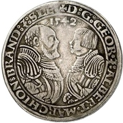 ½ Thaler - Georg the Pious and Albrecht the Young – avers