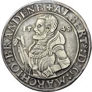 1 Thaler - Albrecht Alcibiades zu Bayreuth – avers