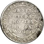 ⅛ Thaler - Georg Friedrich the Elder (Décès) – revers