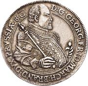 1 Thaler - Georg Friedrich I. (Décès) – avers