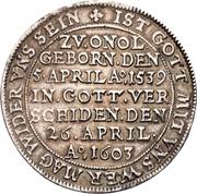 1 Thaler - Georg Friedrich I. (Décès) – revers