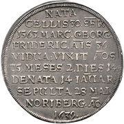 ½ Thaler - Johann IV. Alchimysta (Death) – revers