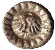 1 hohlpfennig Friedrich II – revers