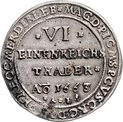 ⅙ Thaler - Friedrich Wilhelm – revers