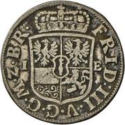 1/12 Thaler - Friedrich III. – avers