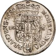 ⅓ Thaler - Friedrich III. – revers
