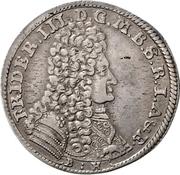 ⅓ Thaler - Friedrich III. – avers