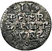 2 Pfennig - Friedrich III. – revers