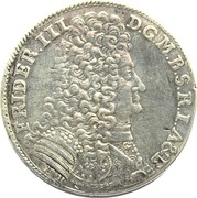 ⅔ thaler - Friedrich III (Minden) – avers