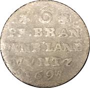 6 pfennig Friedrich III. – revers