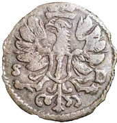 3 pfennig Friedrich III – avers