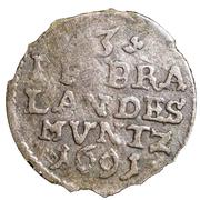 3 pfennig Friedrich III – revers