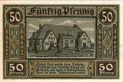 50 Pfennig (Strasburg - Uckermark) – revers