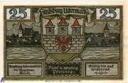 25 Pfennig (Strasburg - Uckermark) – avers