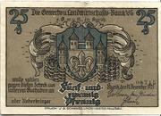 25 Pfennig (Kyritz - Gewerbe- und Landwirtschaftsbank e.G.m.u.H.) – avers